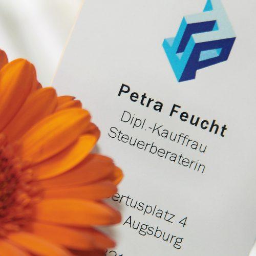 Petra Feucht Diplomkauffrau und Steuerberaterin Visitenkarte